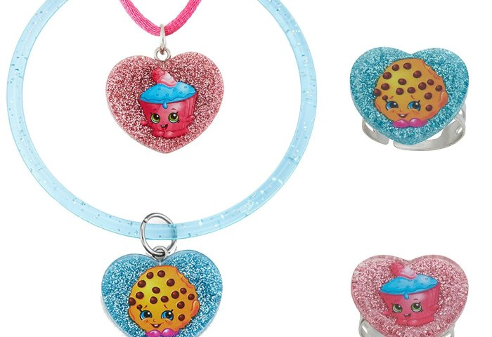 Shopkins Shopkins Cupcake Chic And Kooky Cookie Glitter Heart Set