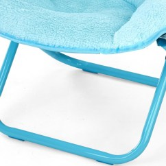 Teal Faux Fur Saucer Chair Rubber Feet For Metal Folding Chairs American Kids Long Hair Stripe Multiple Colors