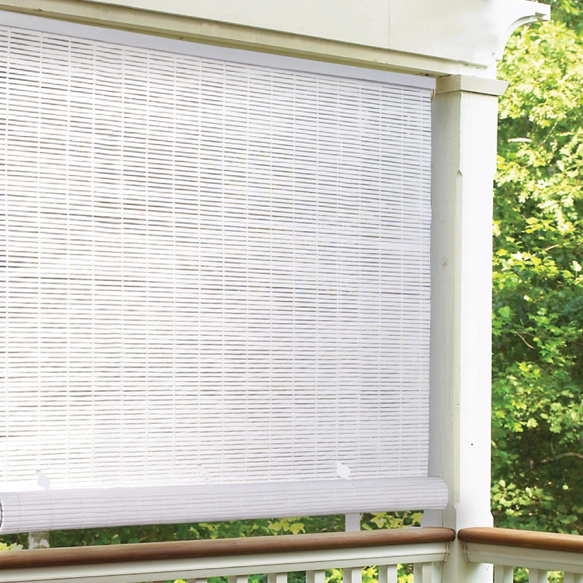 radiance 3 x 6 cordless 1 4 pvc roll up outdoor sun shade white walmart com