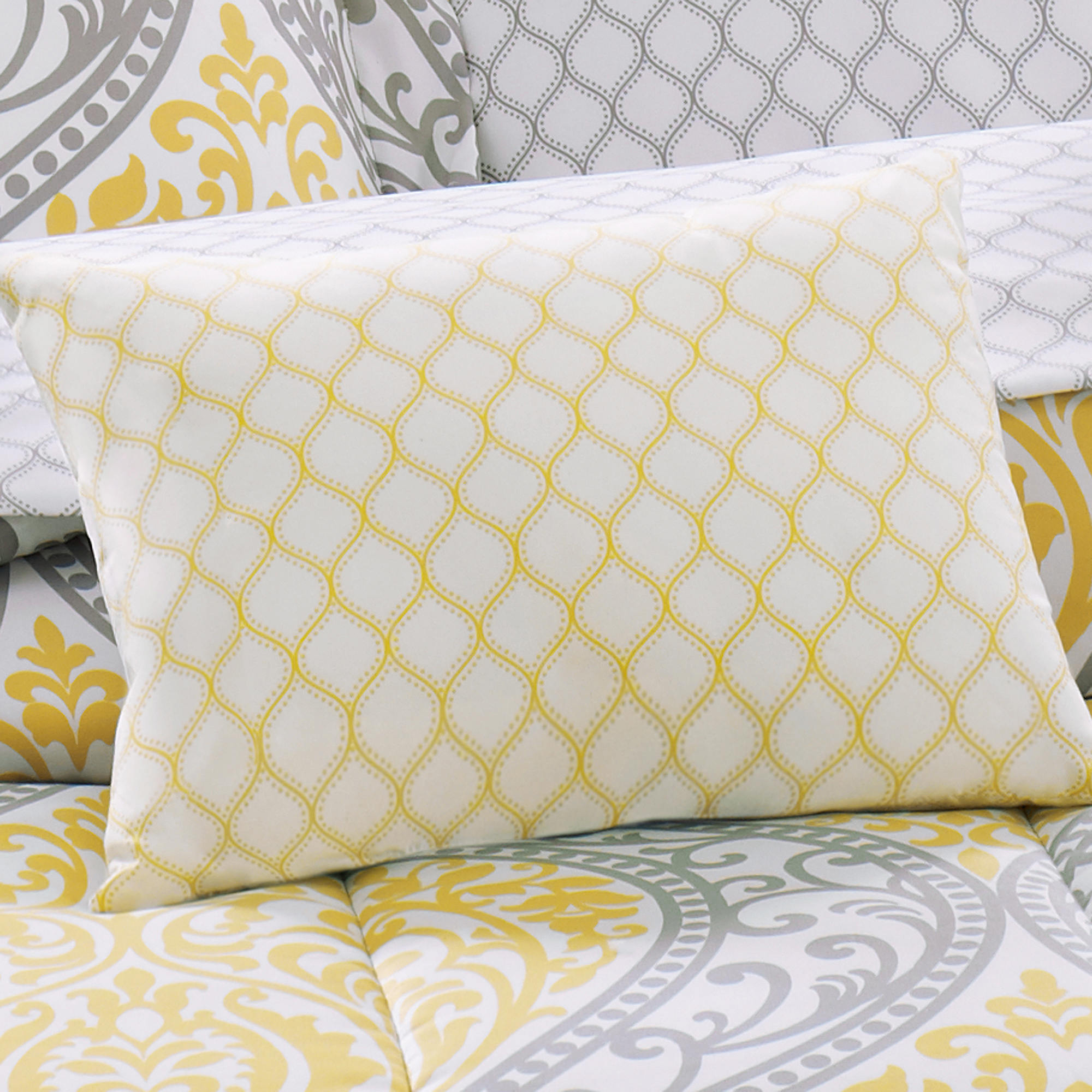 Yellow And Grey Teen Bedding