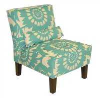 Gerber Accent Chair in Turquoise - Walmart.com