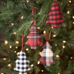 Plush Plaid Christmas Tree Ornaments Farmhouse Buffalo Check Set Of 4 Walmart Com Walmart Com