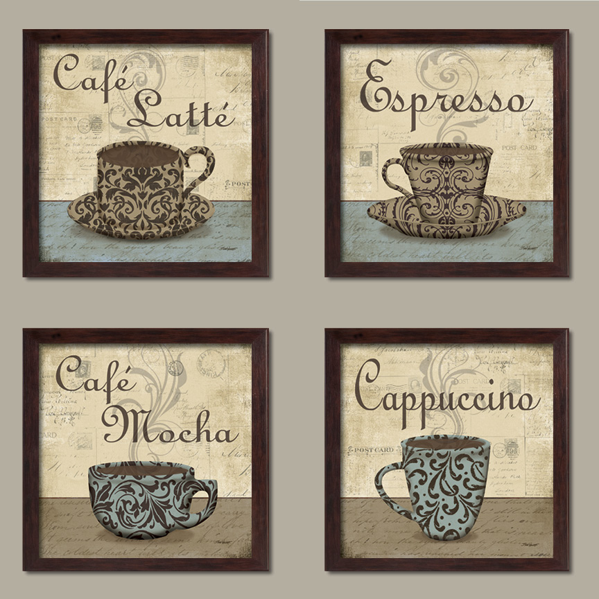 Lovely Vintage Espresso Cafe Latte Cafe Mocha Cappuccino Coffee