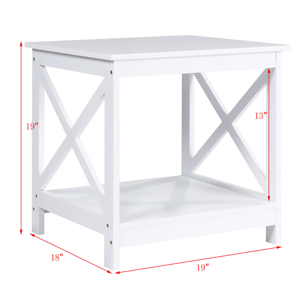 accent sofa 72 inch long table end x design display shelves side nightstand white