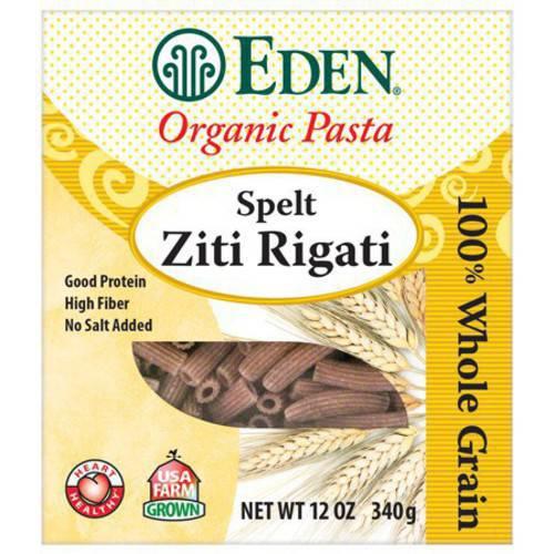 Eden Spelt Ziti Rigati Organic 100% Whole Grain 12 ...
