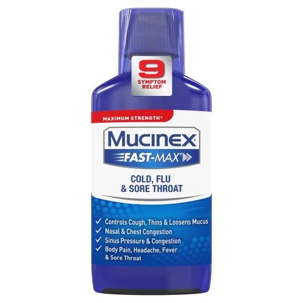 Mucinex Fast-Max Maximum Strength Cold Flu and Sore ...
