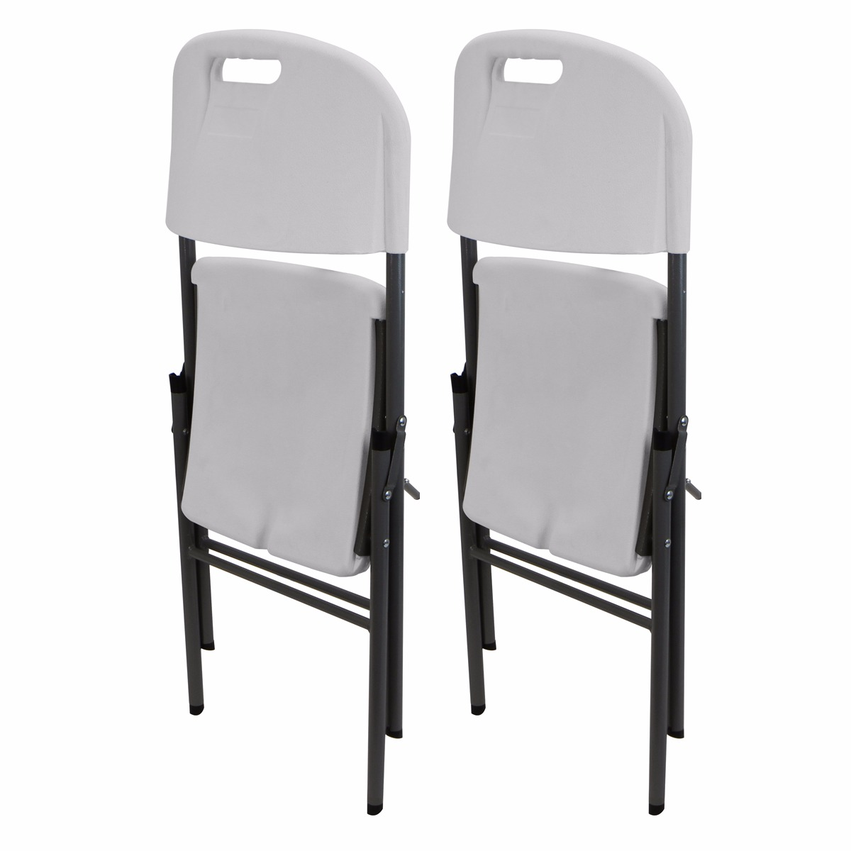 portable high chair walmart spindle leg 2pc plastic folding all weather party, white - walmart.com