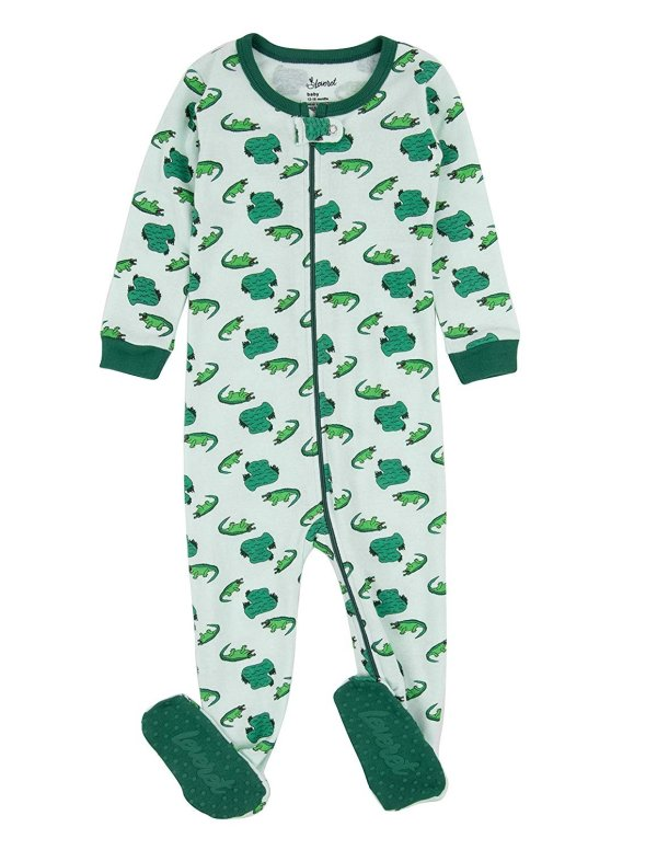 Leveret Kids Pajamas Baby Boys Girls Footed Sleeper 100 Cotton Crocs Size 2 Toddler