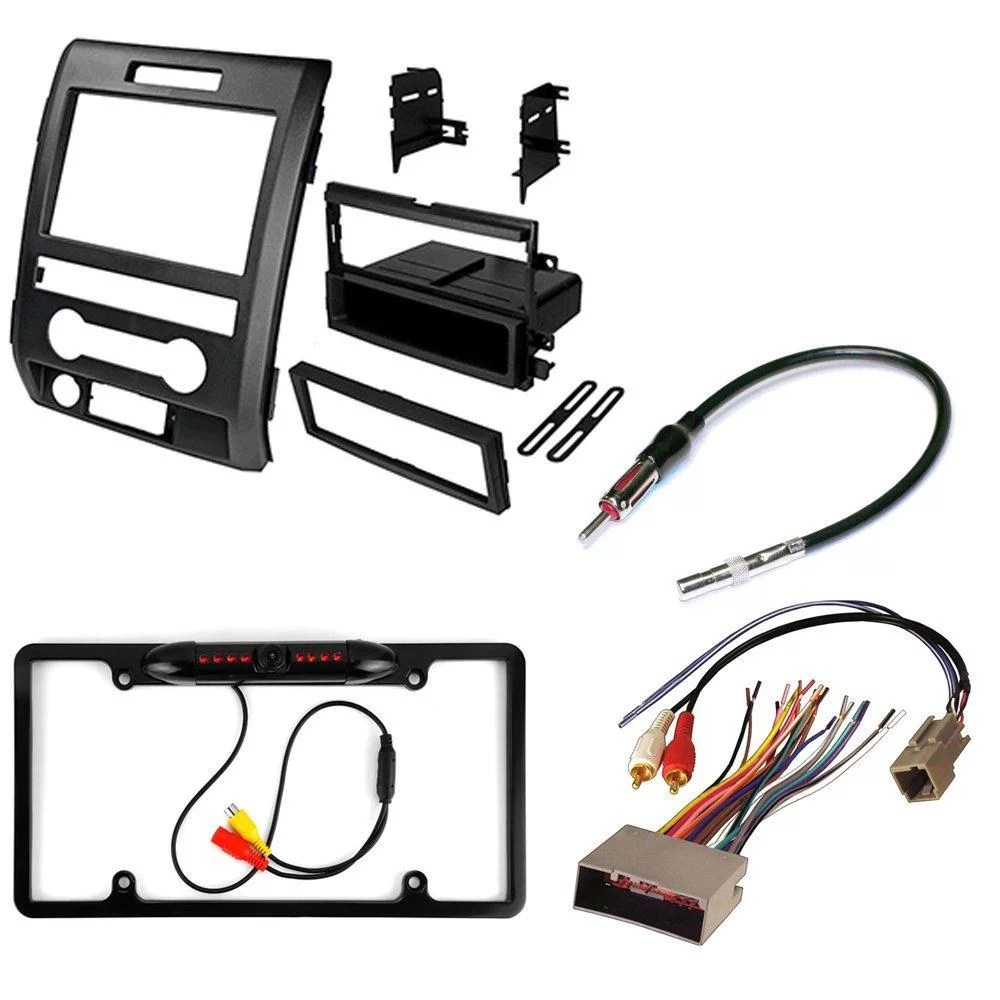 small resolution of ford f 150 2009 2010 2011 2012 aftermarket car stereo install kit dash mounting kit radio