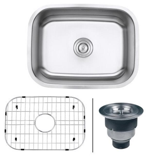 ss kitchen sinks buy island ruvati rvm4132 24 in undermount 16 gauge stainless steel sink single bowl