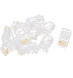 10 pcs rj45 network cable modular cat5 cat5e 8p8c connector end [ 1100 x 1100 Pixel ]