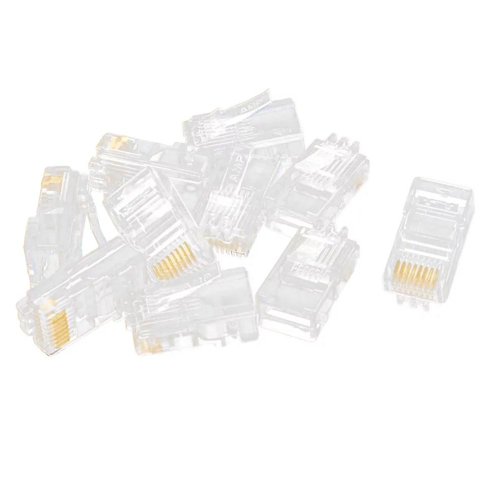medium resolution of 10 pcs rj45 network cable modular cat5 cat5e 8p8c connector end