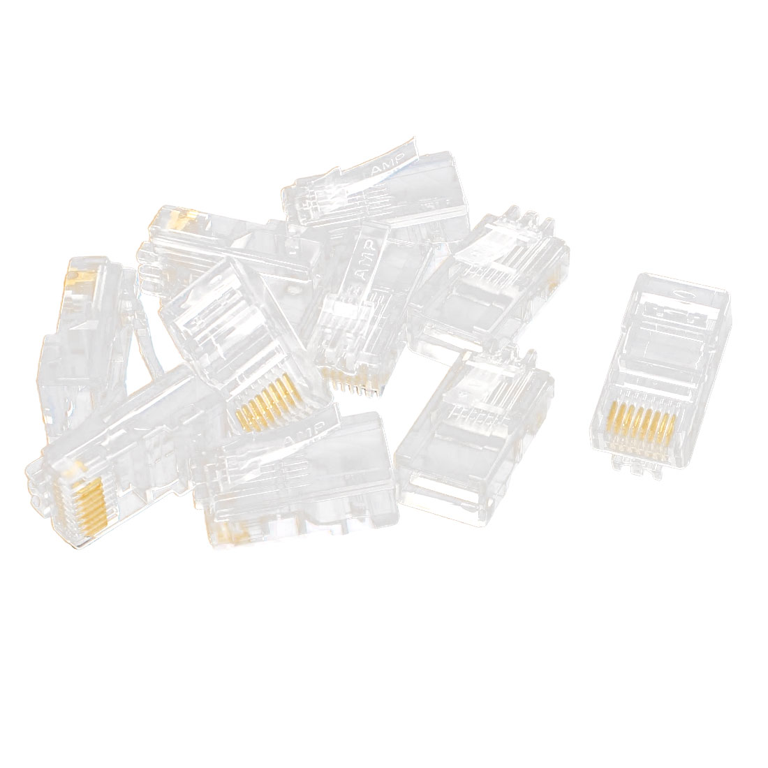 hight resolution of 10 pcs rj45 network cable modular cat5 cat5e 8p8c connector end