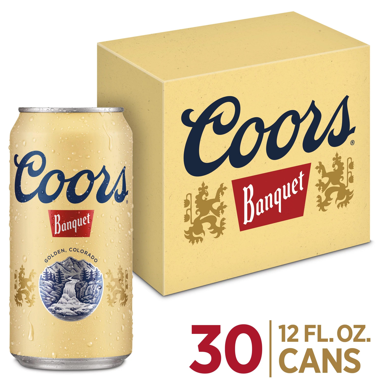 coors banquet lager beer beer 30 pack 12 fl oz cans 5 abv walmart com