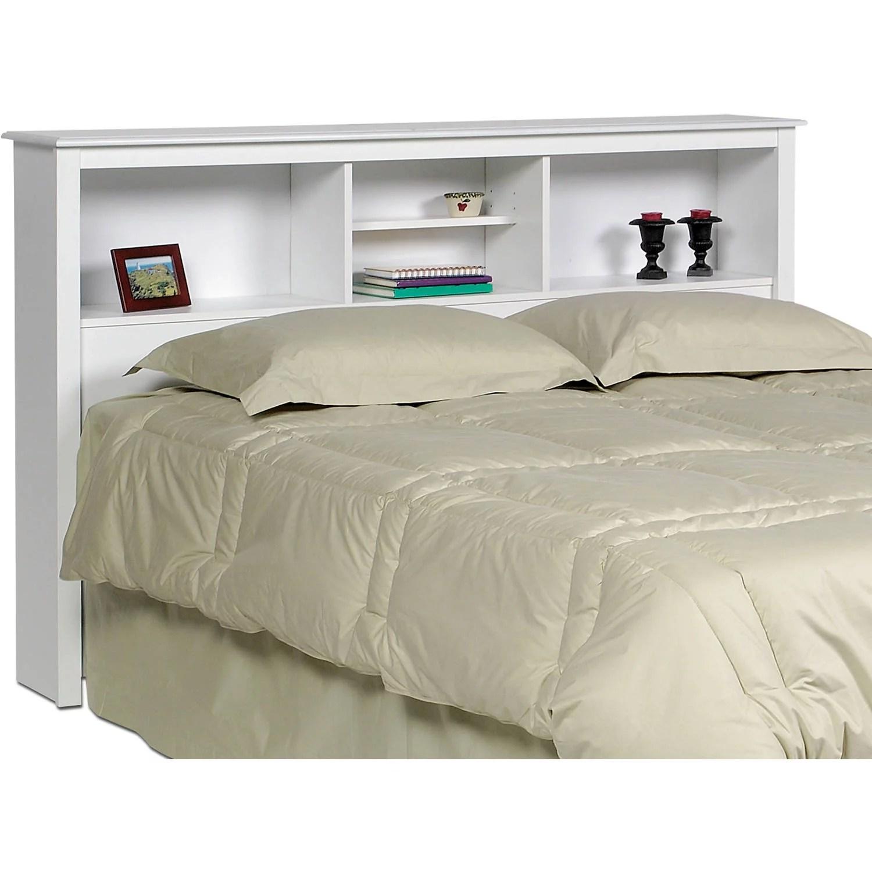 Prepac Monterey Full Queen Bookcase Headboard White Walmart Com Walmart Com