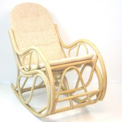Handmade Rocking Chairs Public Seating India Sk New Interiors Natural Rattan Wicker Lounge Chair With Cushion White Wash Walmart Com
