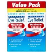Bausch Lomb Advanced Eye Relief Redness Drops 0 50 Fl Oz Twin Pack