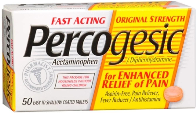 Percogesic Tablets 50 Tablets [Acetaminophen ...