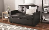 Mainstays Sleeper Loveseat with Memory Foam Mattress ...