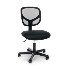 Office Chair Under 3000 Adjustable Desk Chairs Ofm Essentials Collection Mesh Back Armless In Black Ess Walmart Com