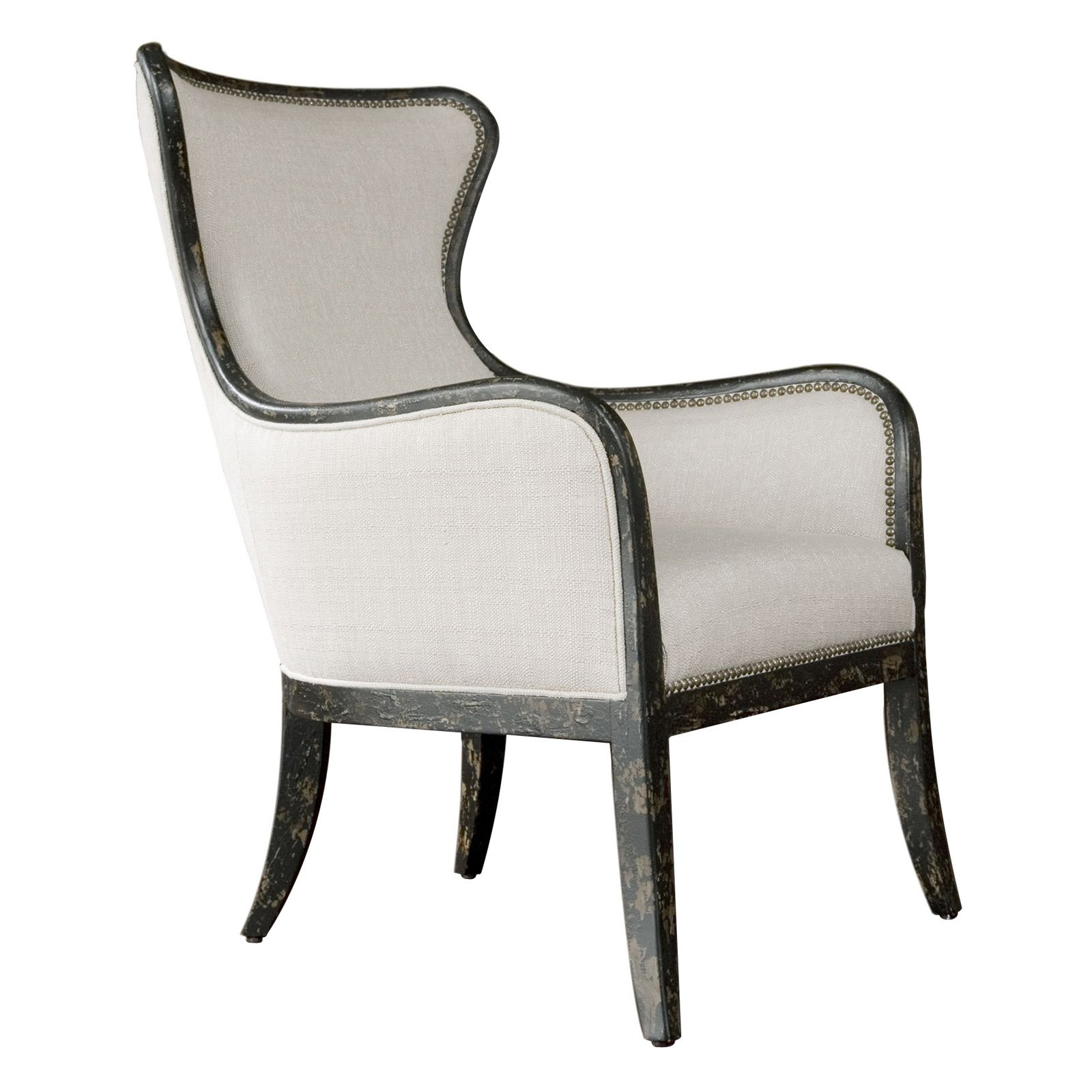 White Wing Chair Uttermost Sandy Wing Chair