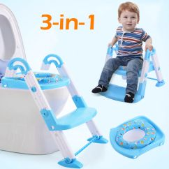 Potty Chair With Ladder Office Indonesia Costway 3 In 1 Baby Training Toilet Seat Step Trainer Toddler Blue Walmart Com