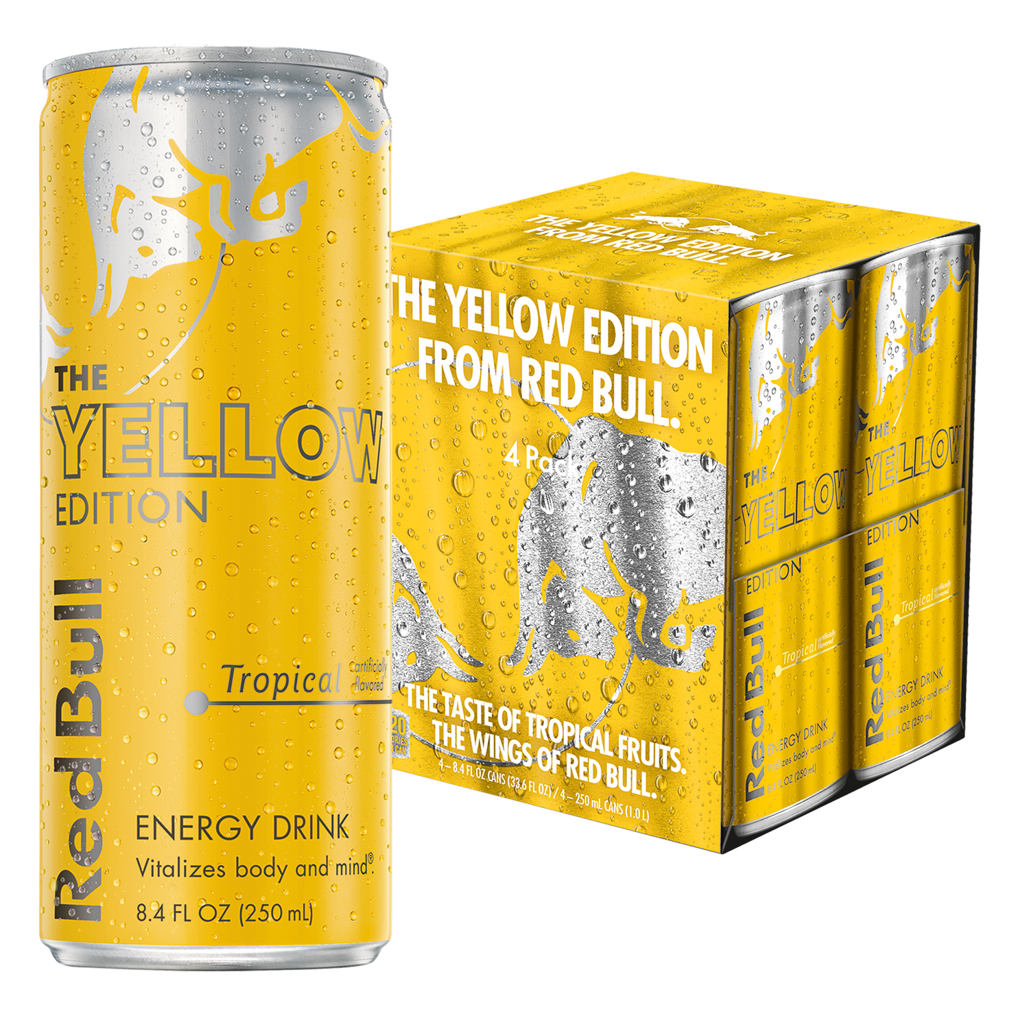 Red Bull Yellow Edition Tropical Energy Drink 84 Fl Oz