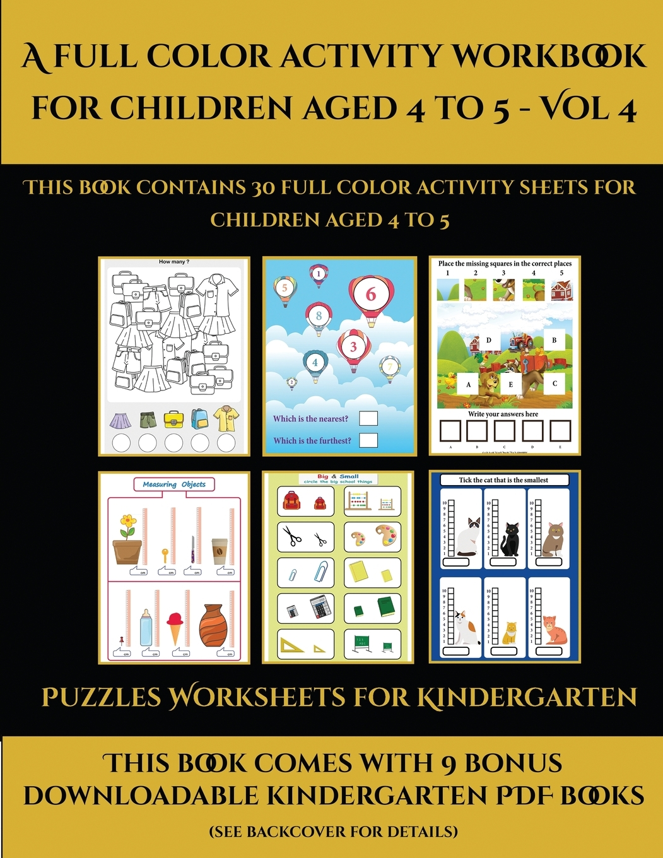 Puzzles Worksheets For Kindergarten Puzzles Worksheets