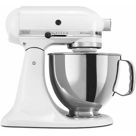 KitchenAid Artisan Series 5 Quart Tilt-Head Stand Mixer, White (KSM150PSWH)