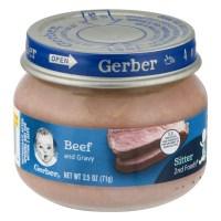 Gerber 2nd Foods Beef And Gravy, 2.5 OZ - Walmart.com