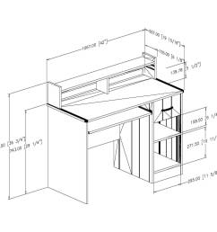 south shore smart basics small desk with 4 shelf bookcase multiple finishes walmart com [ 2000 x 2000 Pixel ]