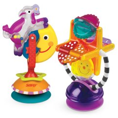 High Chair Suction Toys Wheelchair Dance Sassy Fascintation Station Cow Toy Gift Set 2 Piece Departments