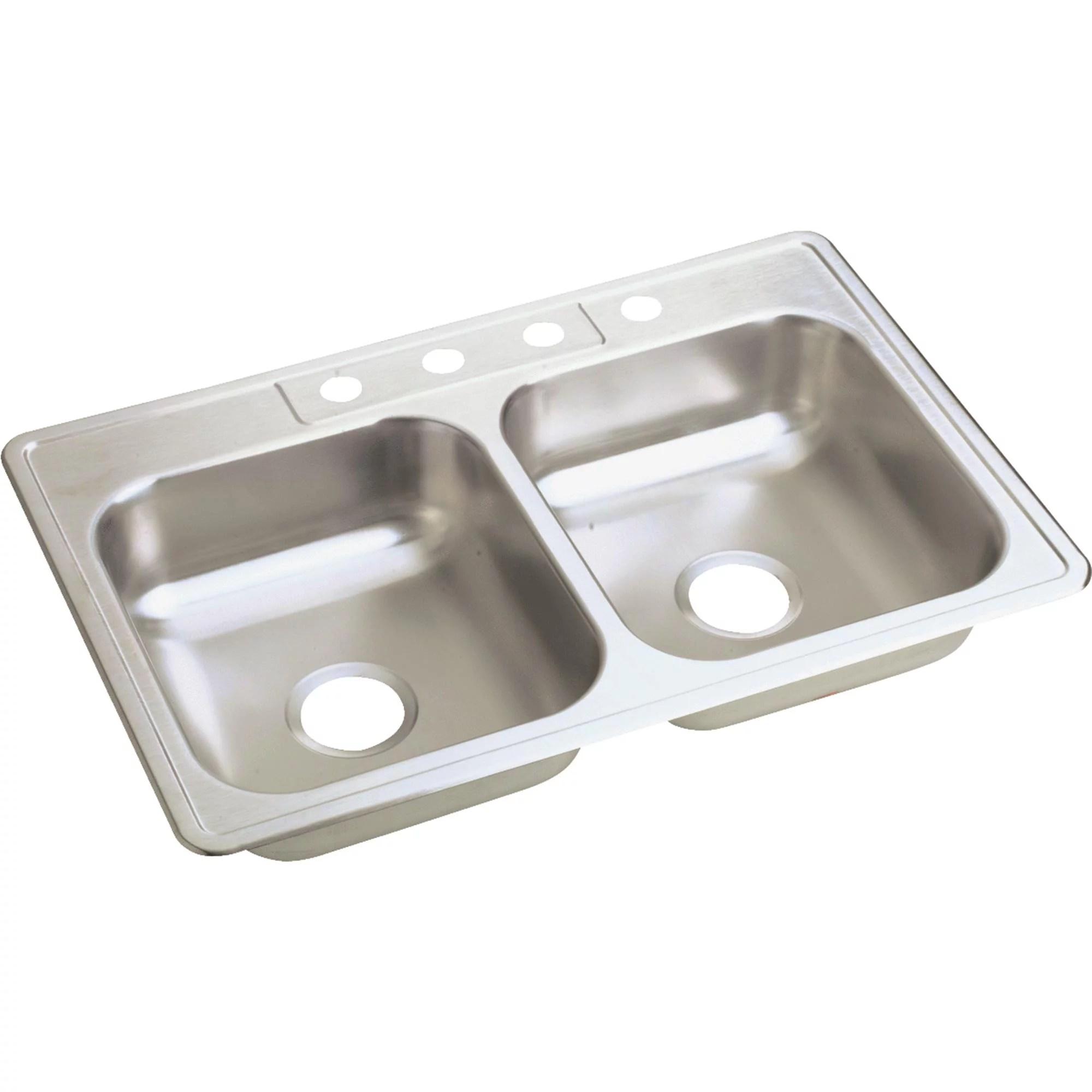 double bowl sink 6 deep stainless steel walmart com