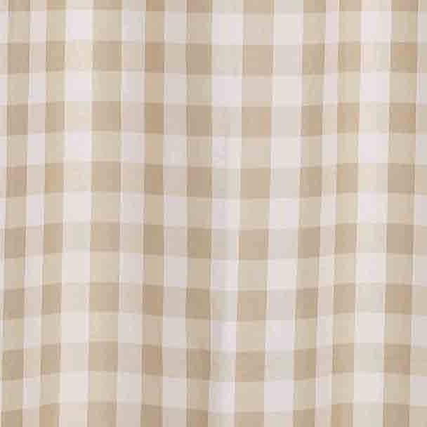 mainstays tan gingham polyester shower curtain 70x72