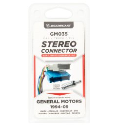 scosche gm035 car truck suv stereo connector walmart com gm wiring harness installation clips  [ 2365 x 2365 Pixel ]