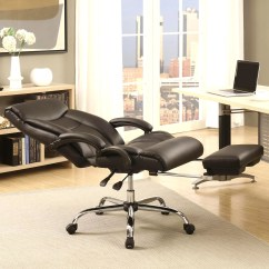 Reclining Office Chair With Footrest India Big Joe Dorm Bean Bag A Line Furniture Executive Adjustable
