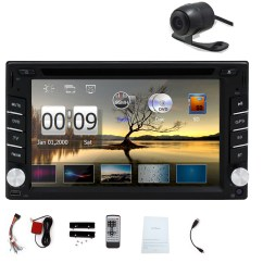 7 Way Navigation Diy Electrical Wiring Diagrams Double Din 6 2 Inch Touchscreen Dvd Player Receiver Gps Bluetooth Fm Am Radio Steering Wheel Car Stereo With Free Back Camera Walmart