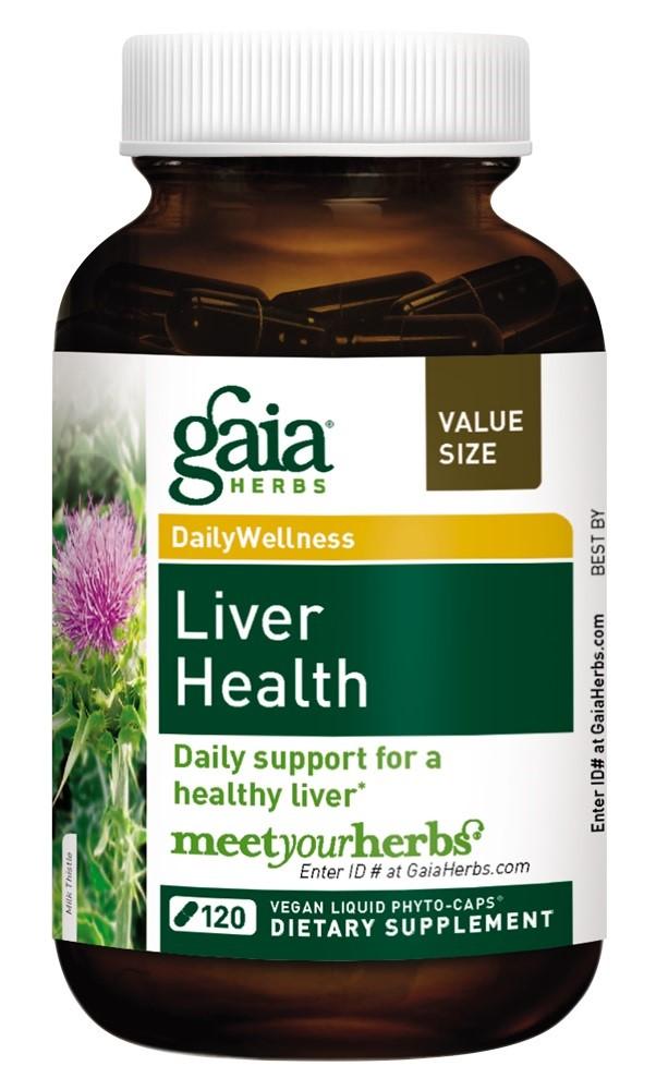 Gaia Herbs Liver Health Vegan Liquid Phyto-Caps 120 Ct ...