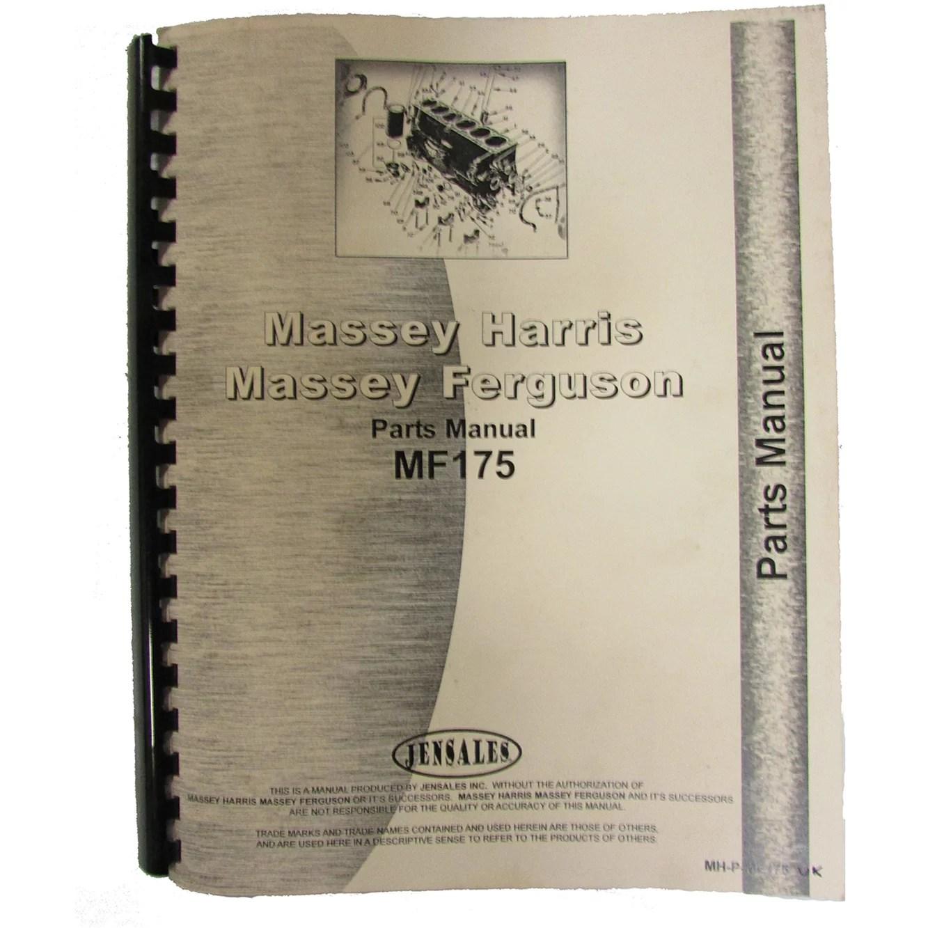 massey ferguson 175 parts diagram rockford p3 wiring manual for diesel uk 178 mh p mf175