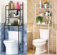 Bathroom Over Toilet Shelf,3-Tier Iron Toilet Towel ...