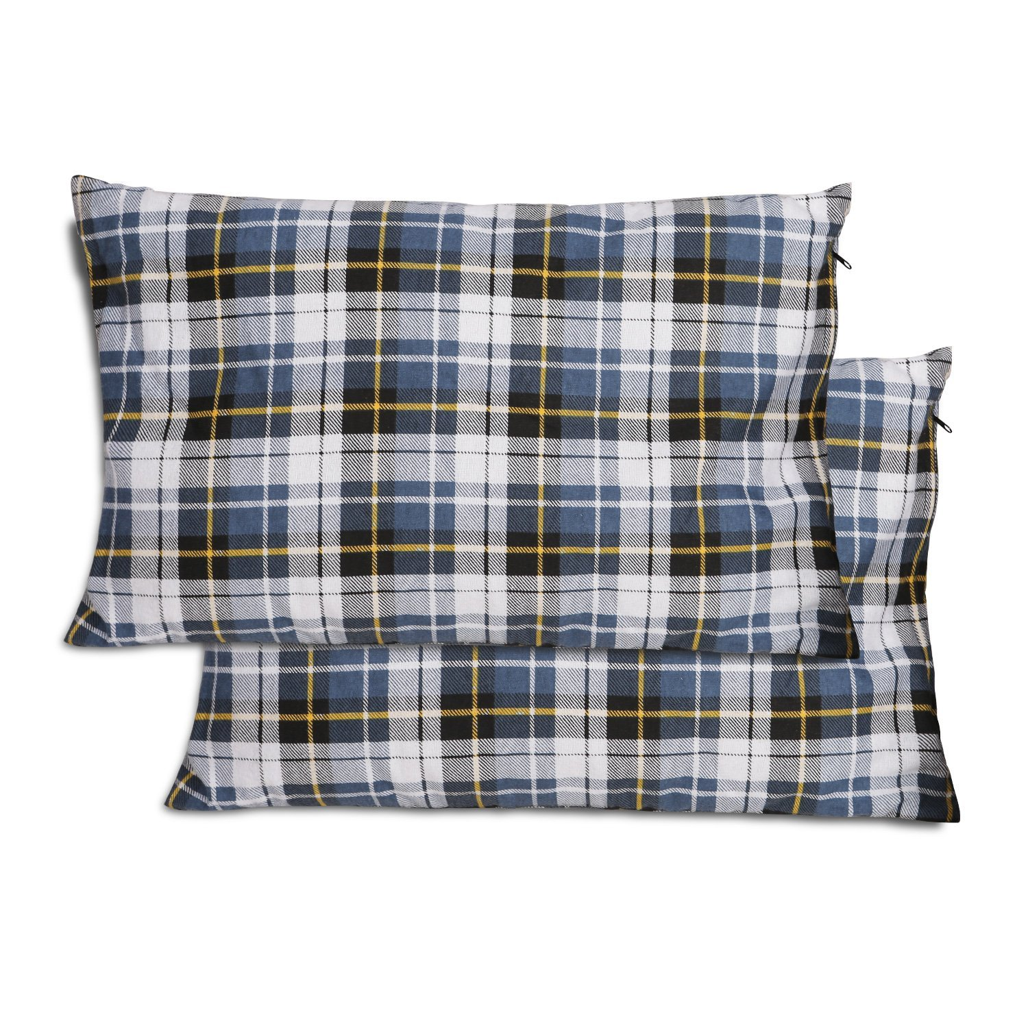 redcamp outdoor camping pillow set of 2 lightweight 2 pack flannel travel pillow cases removable pillow cover