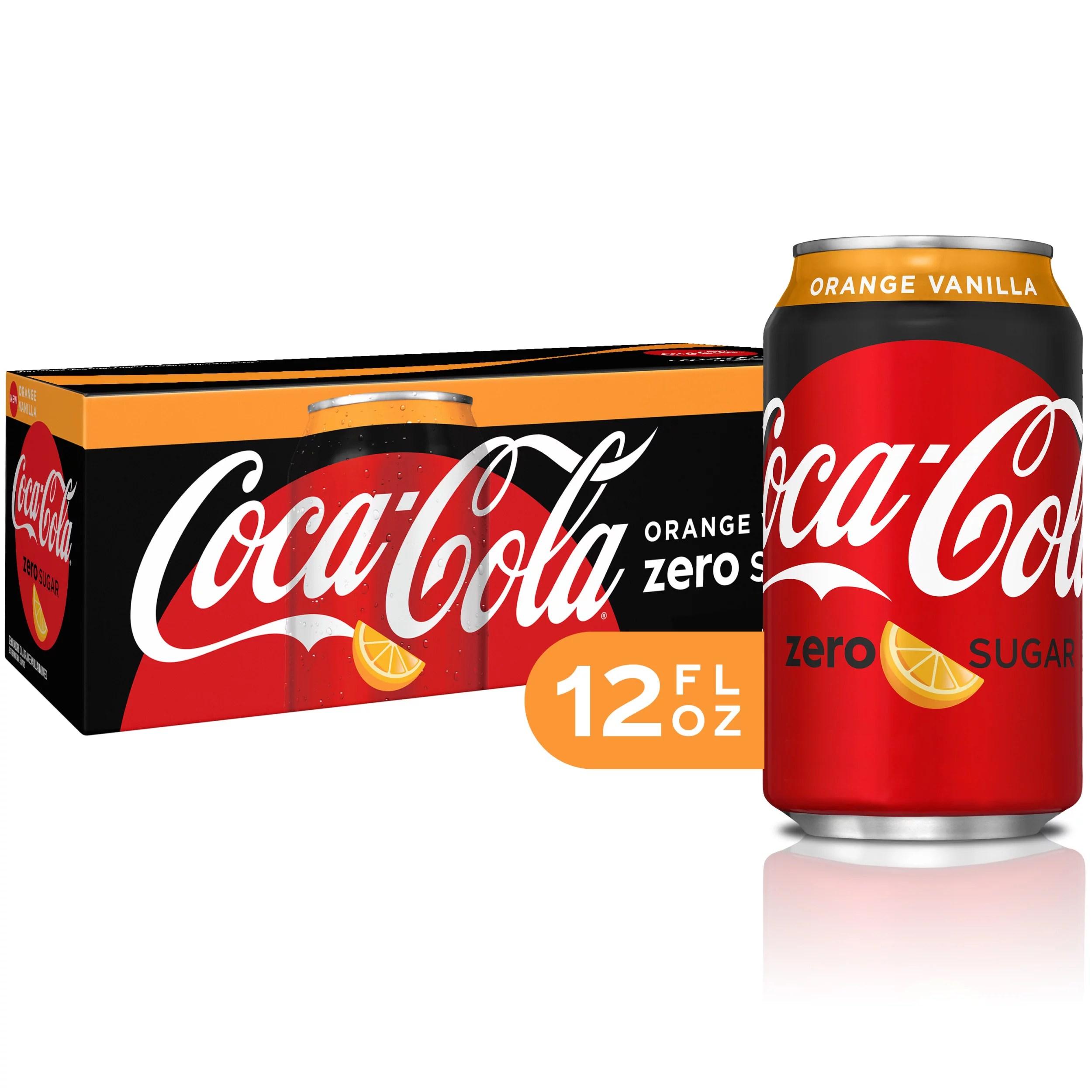 Coke Zero Orange Vanilla Diet Soda Sugar Free Soft Drinks ...