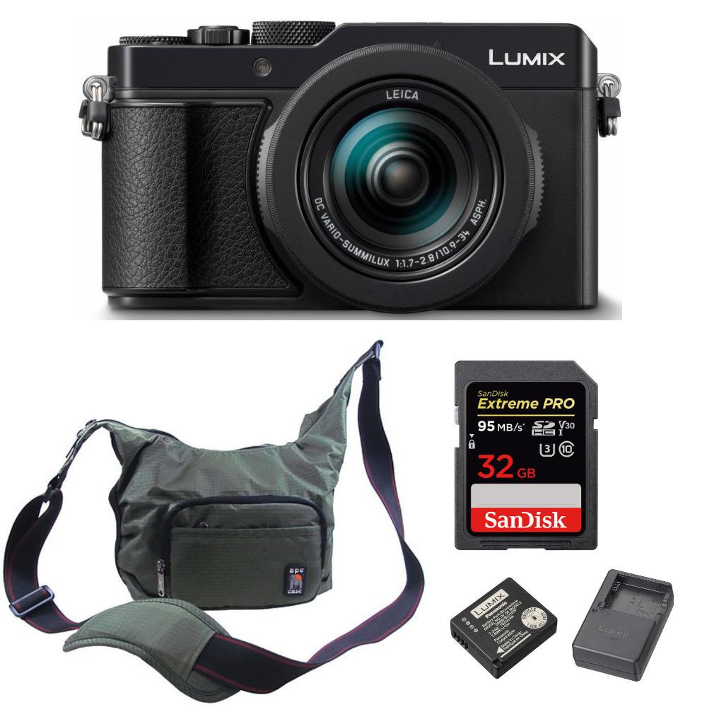 Panasonic Lumix LX100 II Large Four Thirds 21.7 MP with Accessory Bundle