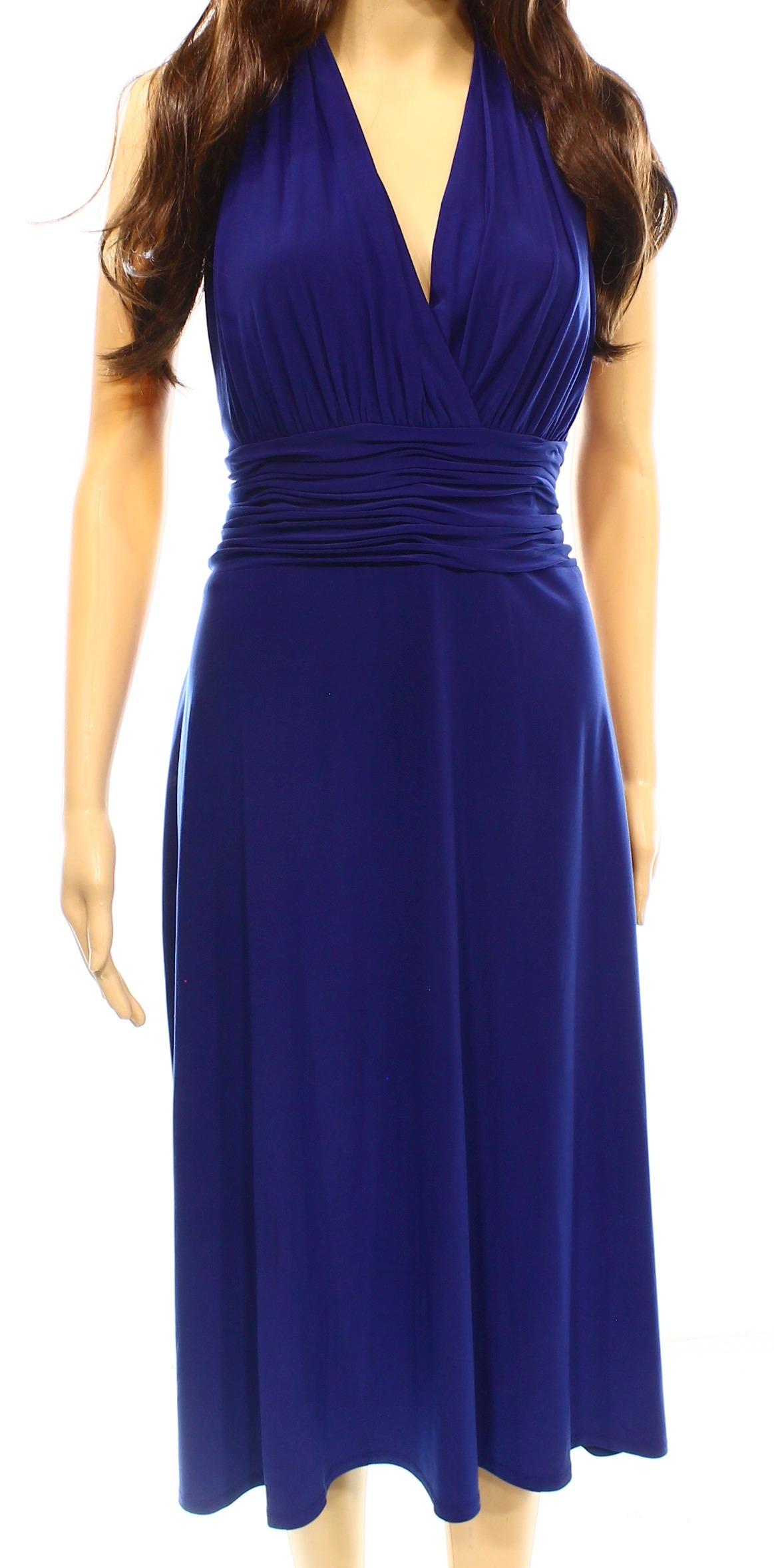 Departments also evan picone new blue ruched surplice women   size rh walmart