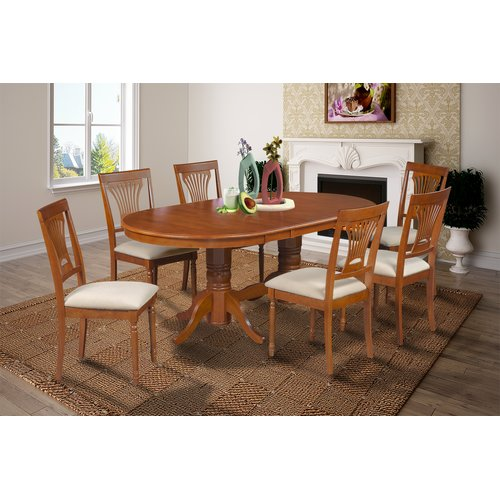 Darby Home Co Inwood 7 Piece Rubber Wood Dining Set