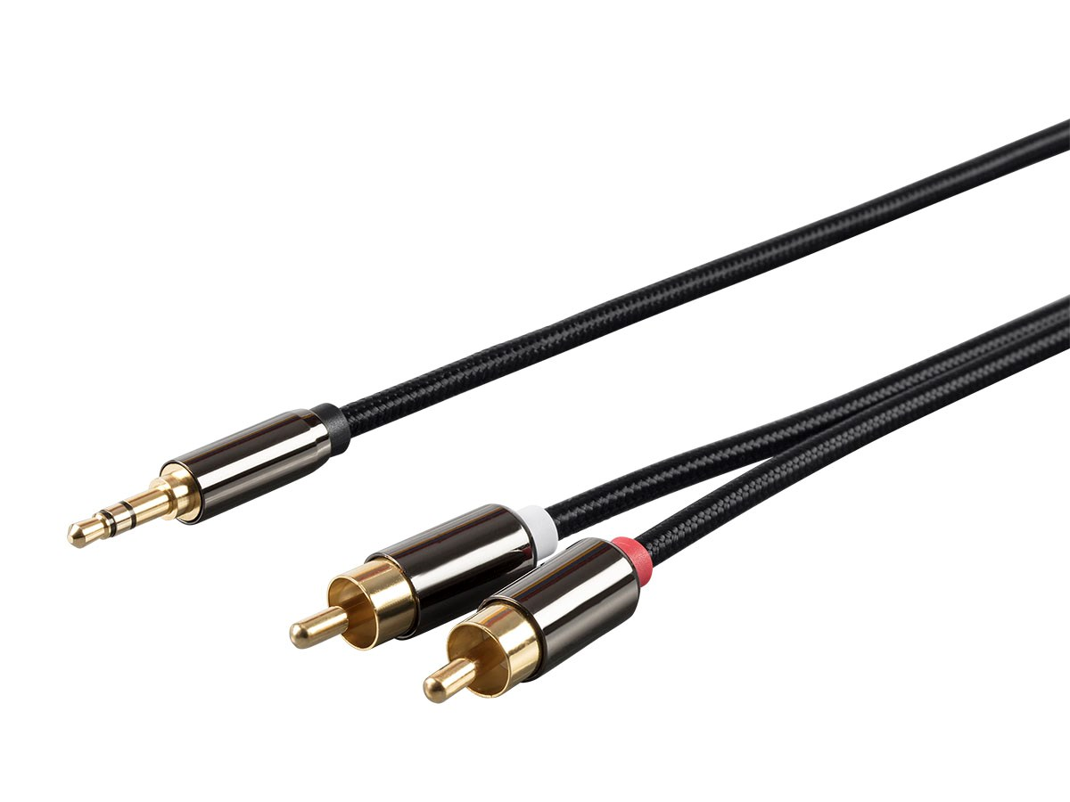 Monoprice 3 5mm Stereo Male To Rca Male Auxiliary Cable