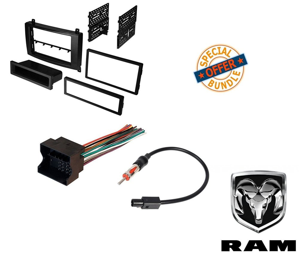 medium resolution of dodge sprinter van radio stereo dash mounting install kit wire harness adapter walmart com