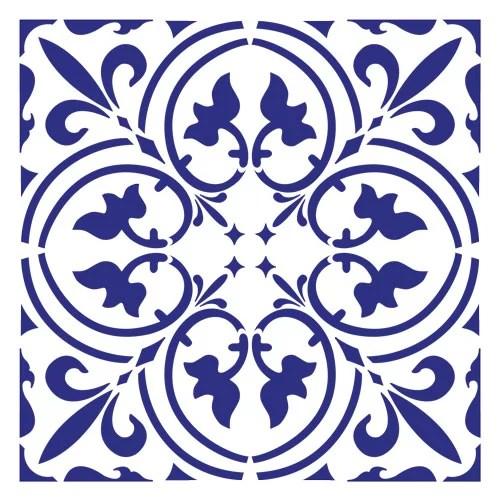 scroll tile wall stencil 3798 by designer stencils