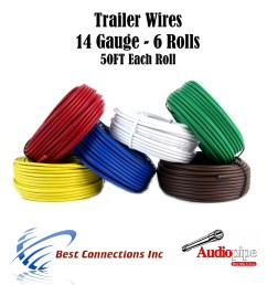 6 way trailer wire light cable for harness led 50ft each roll 14 gauge 6 rolls walmart com [ 1094 x 1200 Pixel ]