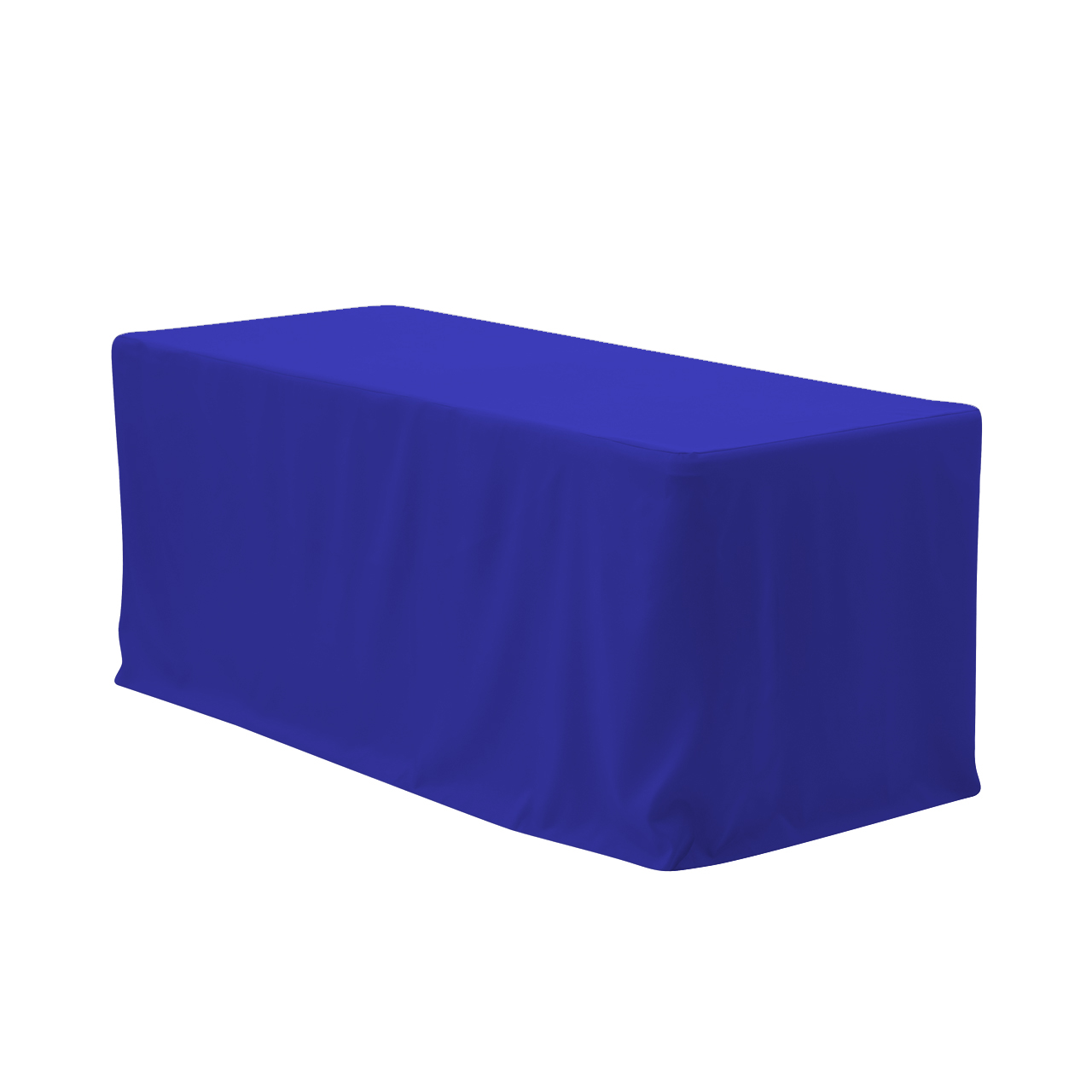 royal blue chair covers large cushions your 8 ft fitted polyester tablecloth rectangular for wedding party birthday patio etc